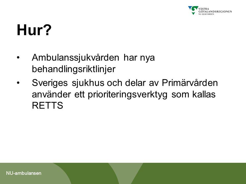 Hur Ambulanssjukvården har nya behandlingsriktlinjer