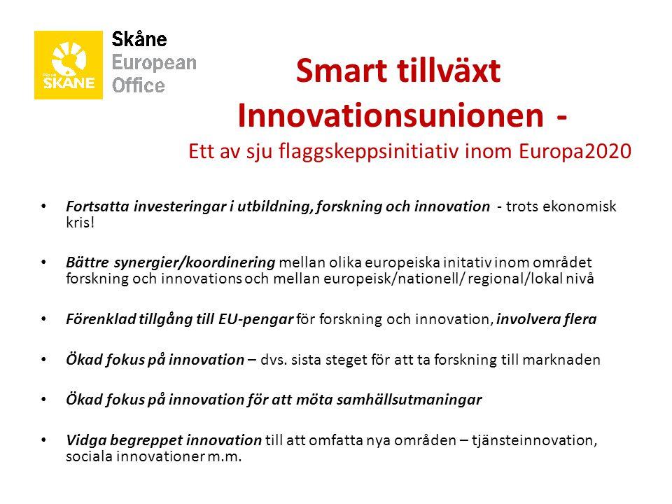 Smart tillväxt. Innovationsunionen -