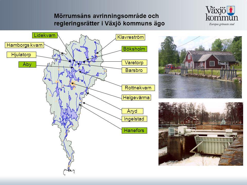 Mörrumsåns avrinningsområde och regleringsrätter i Växjö kommuns ägo