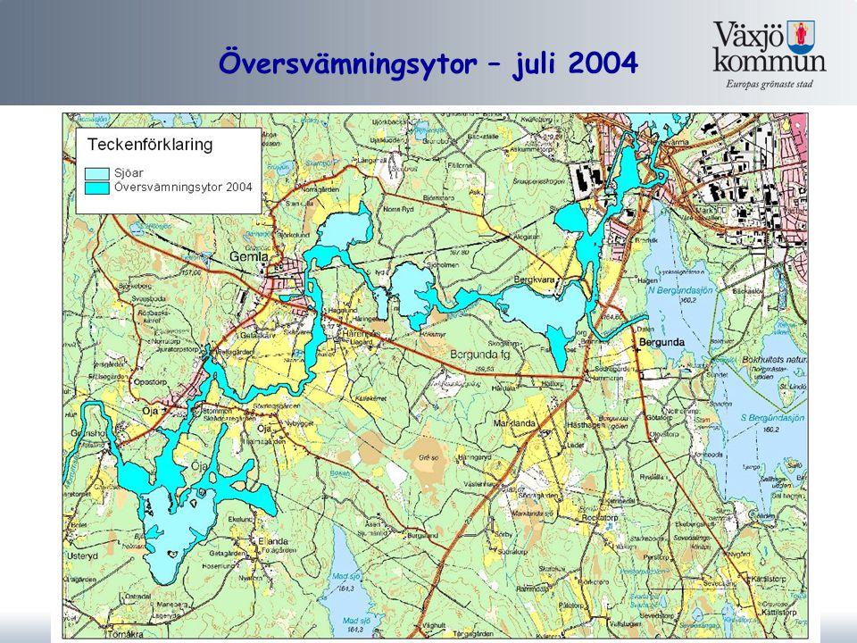 Översvämningsytor – juli 2004