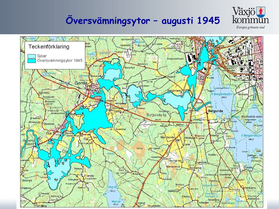 Översvämningsytor – augusti 1945