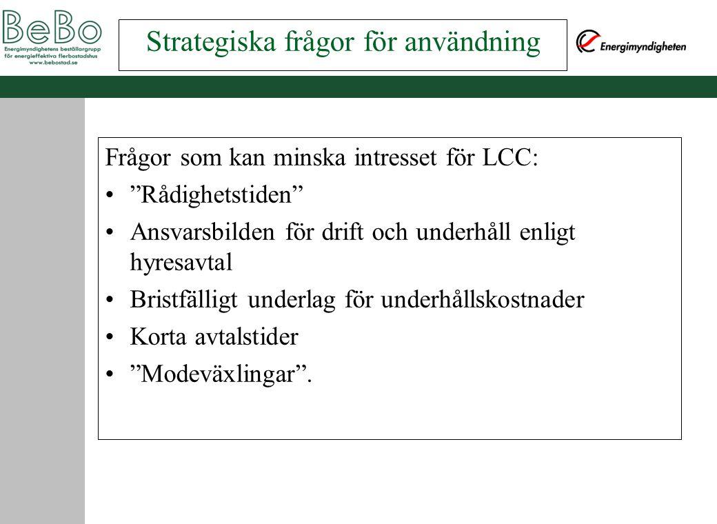 Strategiska frågor för användning