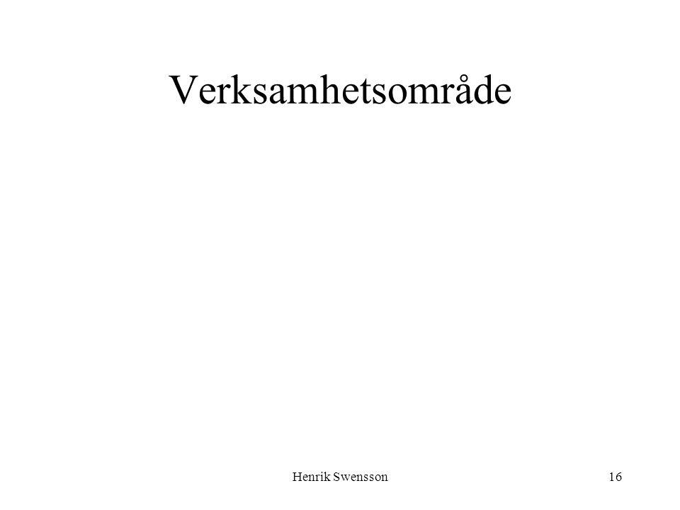 Verksamhetsområde Henrik Swensson