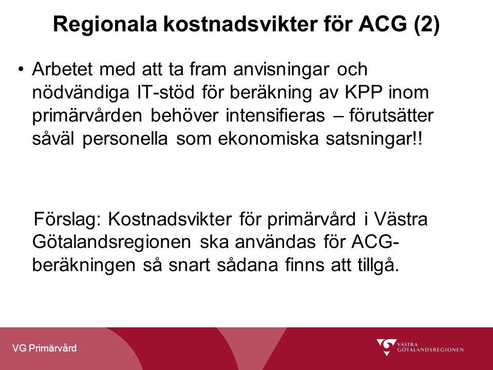 Regionala kostnadsvikter för ACG (2)