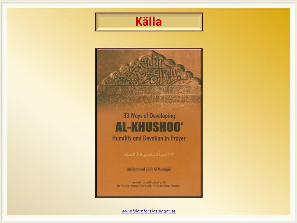 Källa www.islamforelasningar.se