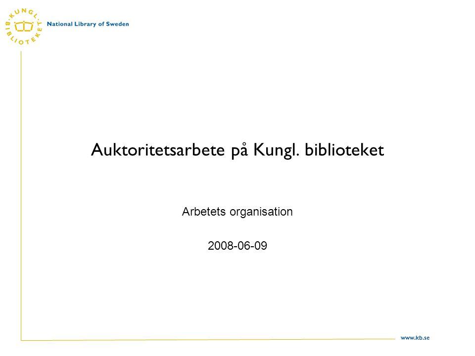 Auktoritetsarbete på Kungl. biblioteket