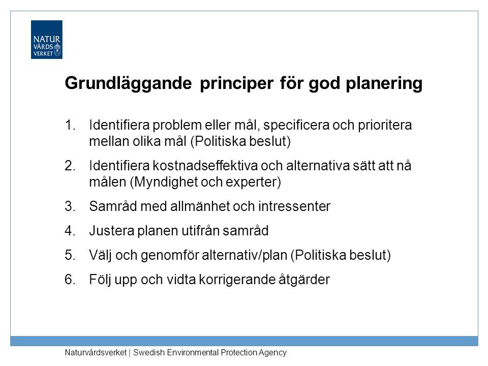 Grundläggande principer för god planering