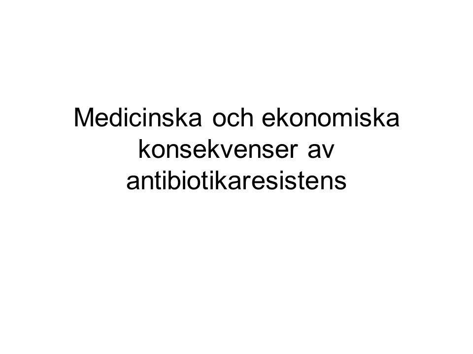 Medicinska och ekonomiska konsekvenser av antibiotikaresistens