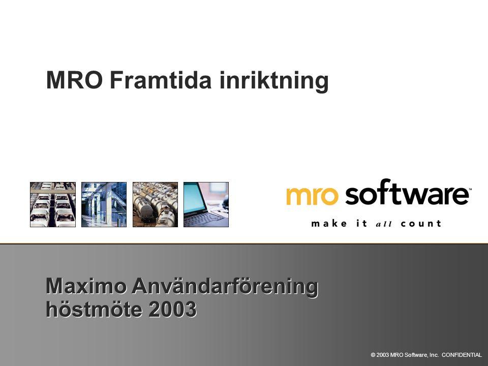 Maximo Användarförening höstmöte 2003