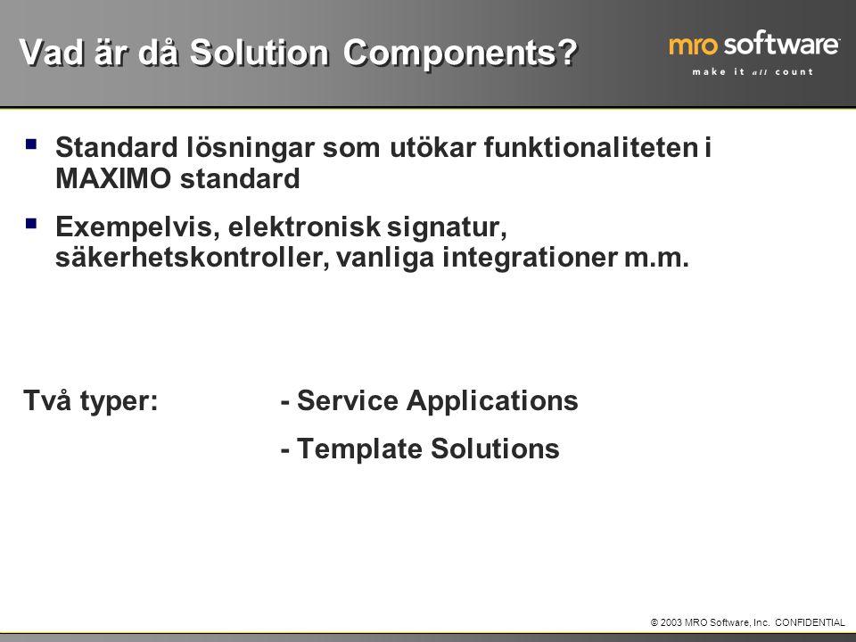 Vad är då Solution Components