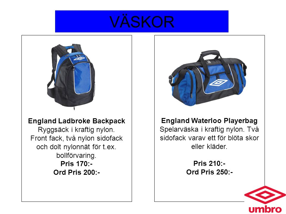 England Ladbroke Backpack England Waterloo Playerbag