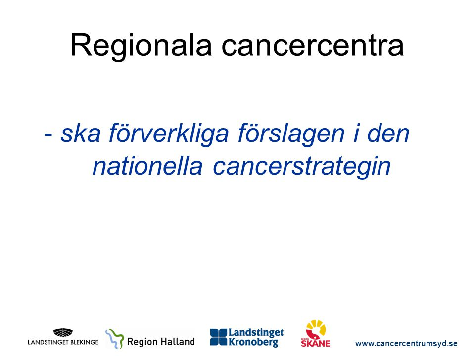 Regionala cancercentra