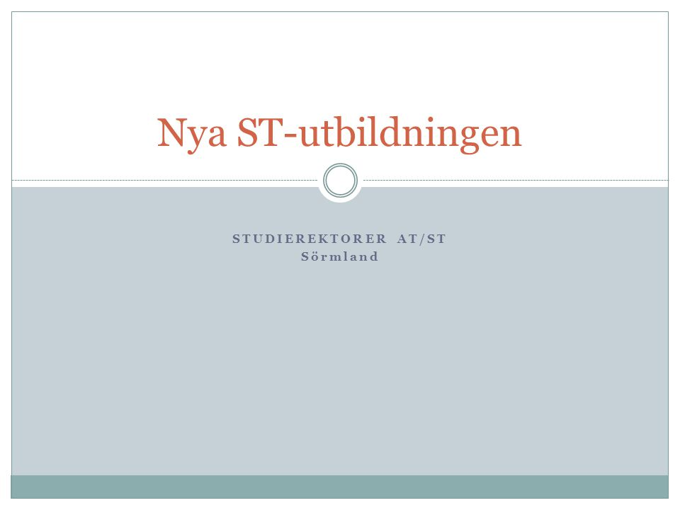 STUDIEREKTORER AT/ST Sörmland