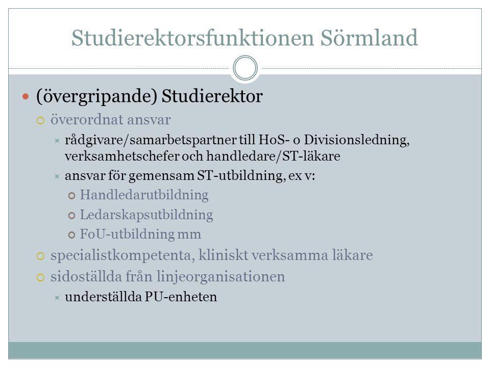 Studierektorsfunktionen Sörmland
