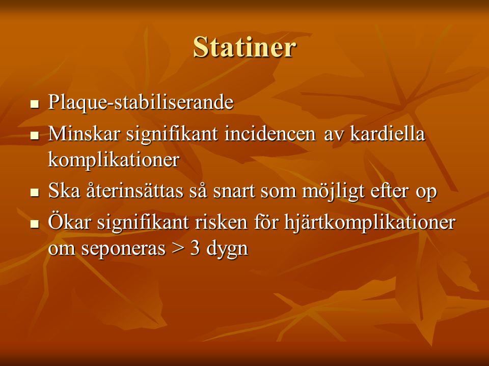 Statiner Plaque-stabiliserande