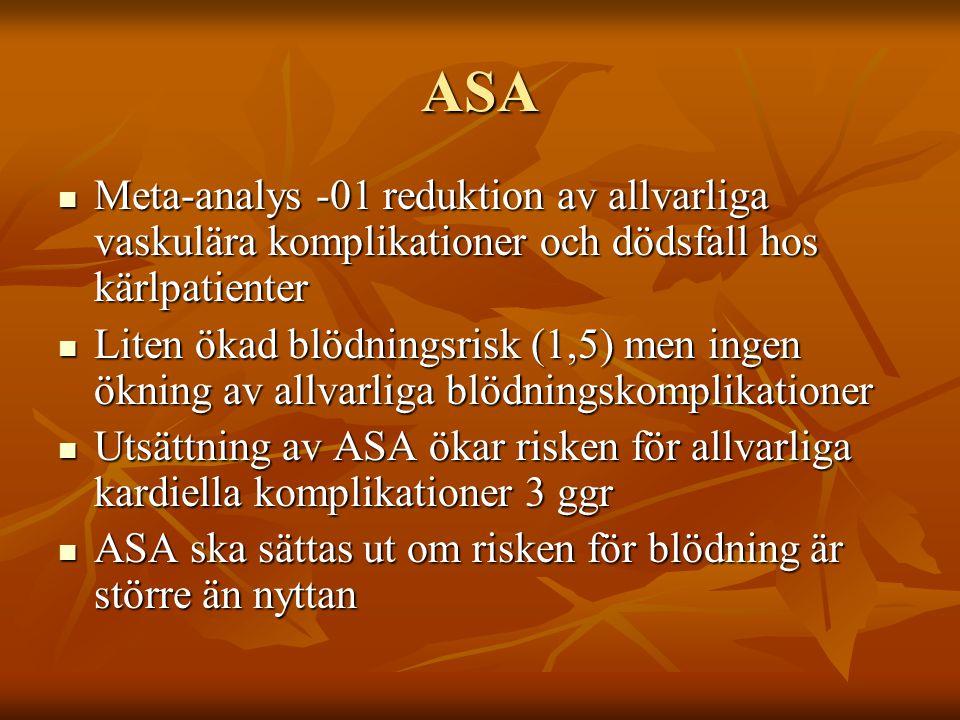 ASA Meta-analys -01 reduktion av allvarliga vaskulära komplikationer och dödsfall hos kärlpatienter.