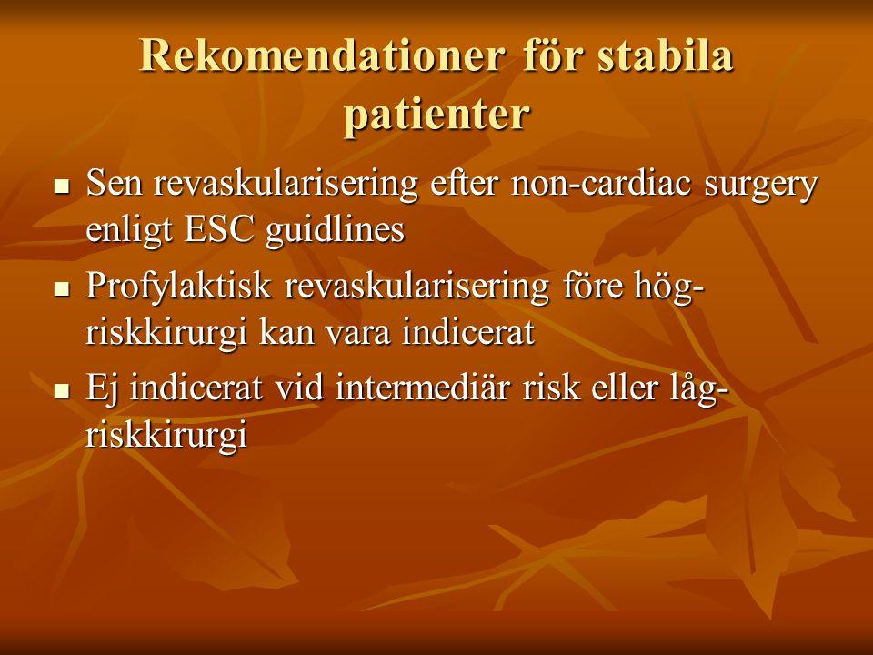 Rekomendationer för stabila patienter