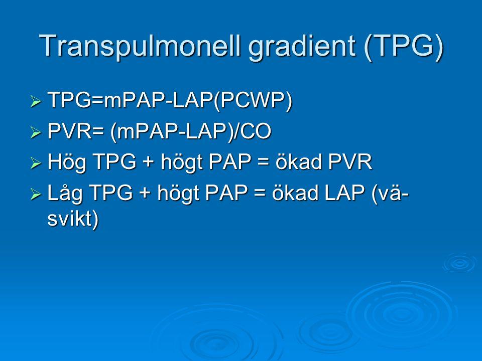 Transpulmonell gradient (TPG)