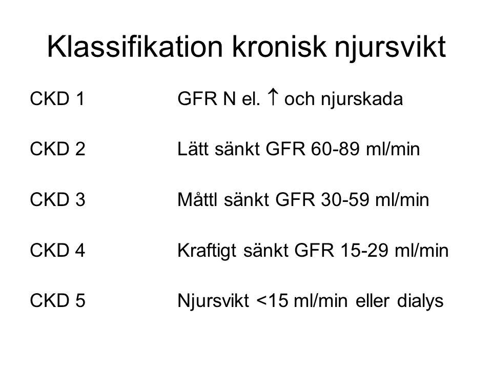 Klassifikation kronisk njursvikt