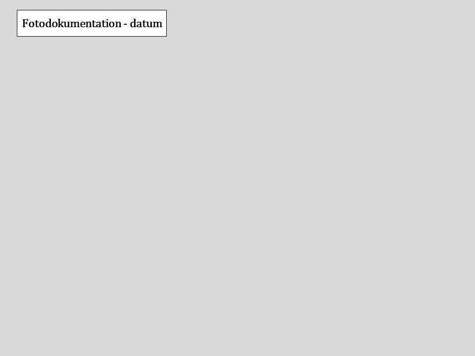 Fotodokumentation - datum
