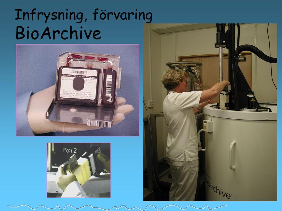 Infrysning, förvaring BioArchive