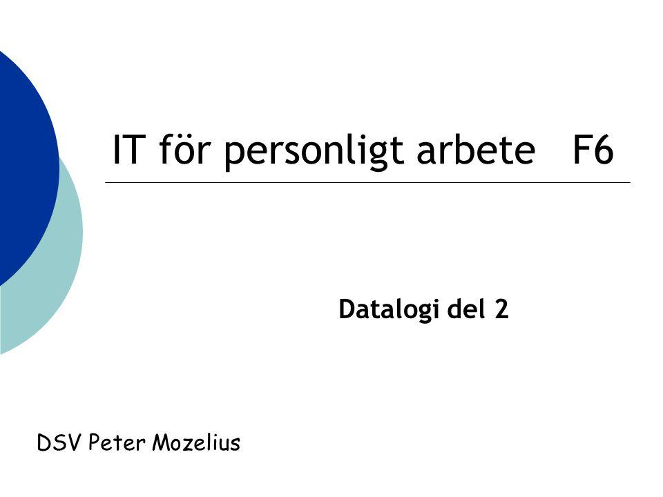 IT för personligt arbete F6