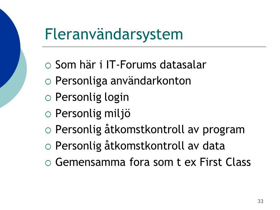 Fleranvändarsystem Som här i IT-Forums datasalar