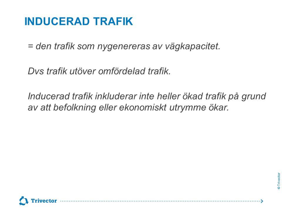 Inducerad trafik = den trafik som nygenereras av vägkapacitet.