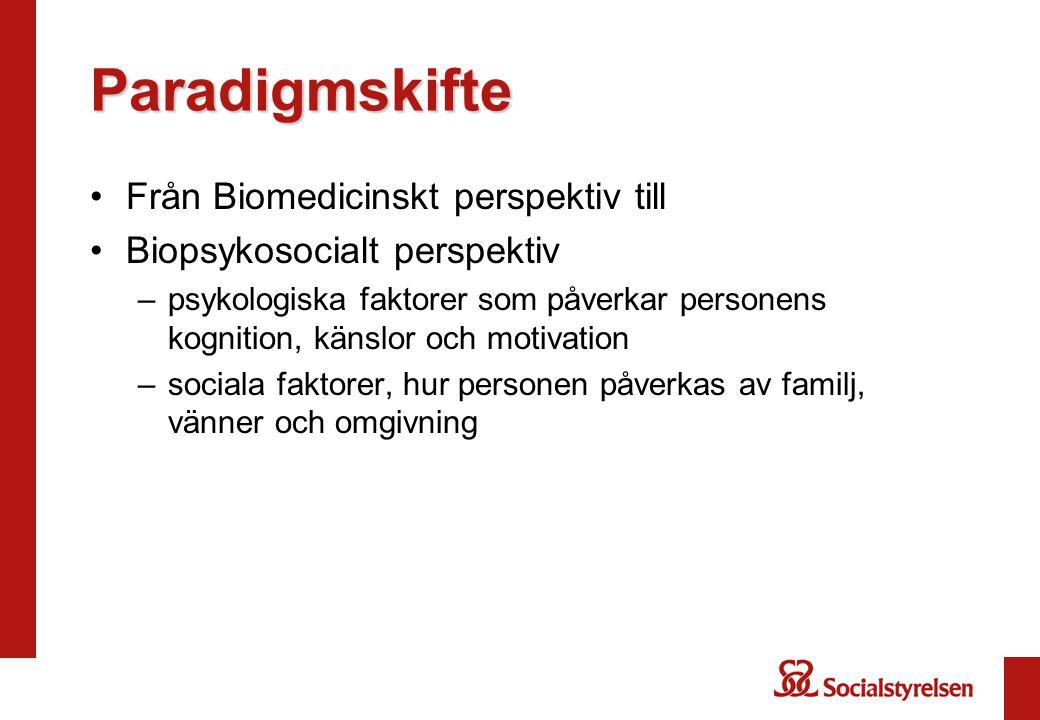 Paradigmskifte Från Biomedicinskt perspektiv till