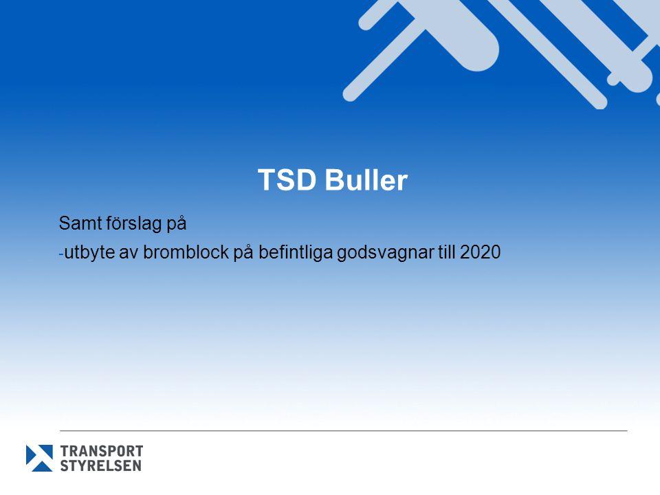 Samt förslag på utbyte av bromblock på befintliga godsvagnar till 2020