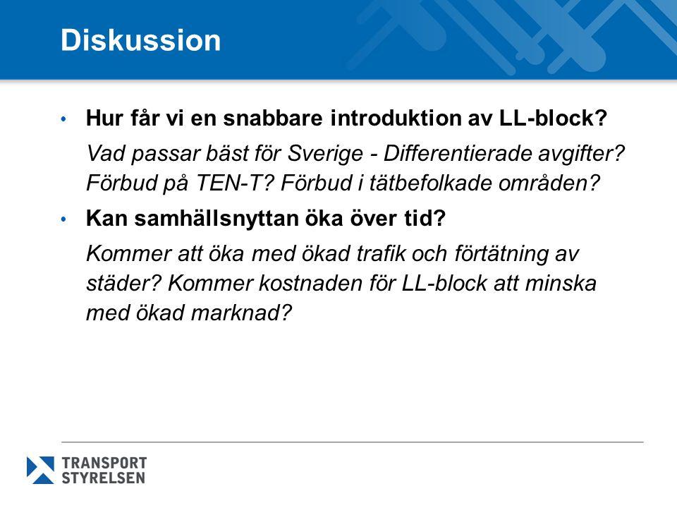 Diskussion Hur får vi en snabbare introduktion av LL-block