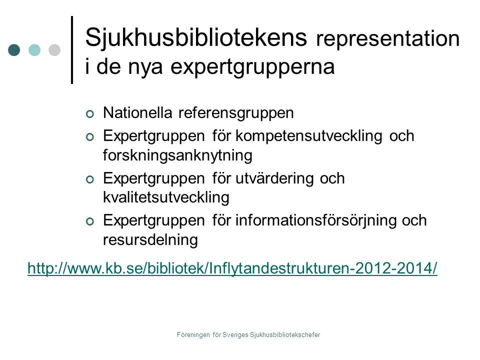 Sjukhusbibliotekens representation i de nya expertgrupperna