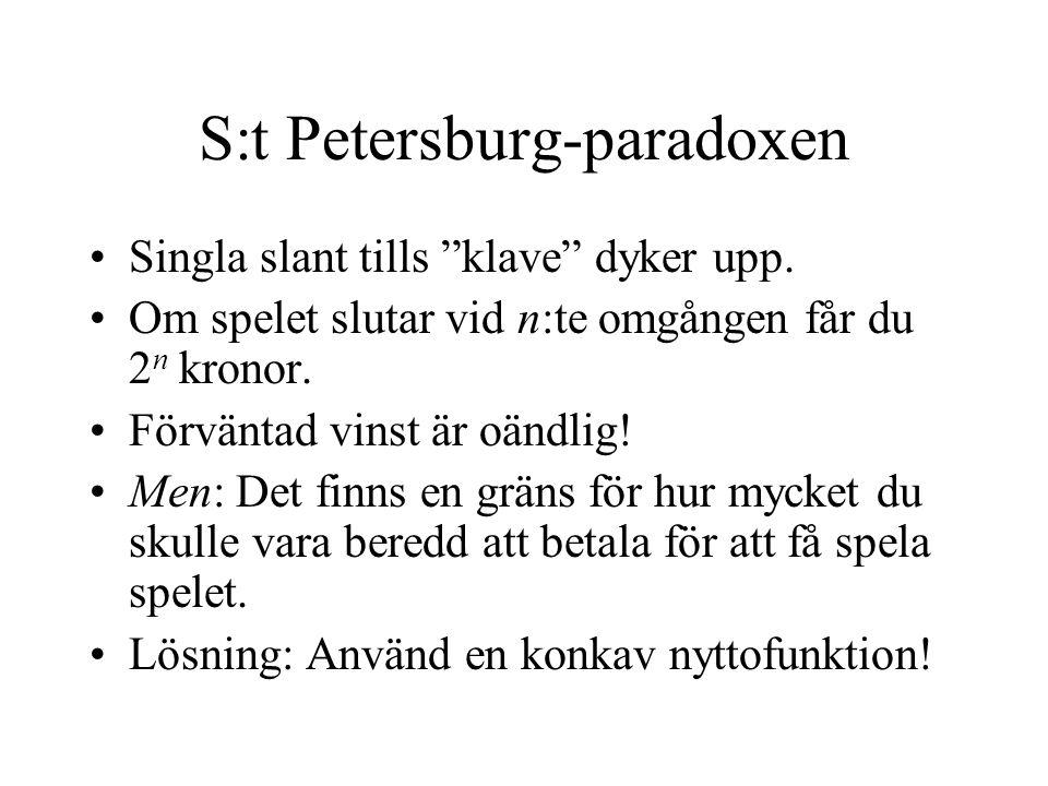 S:t Petersburg-paradoxen