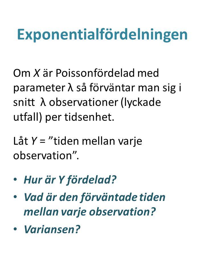 Exponentialfördelningen