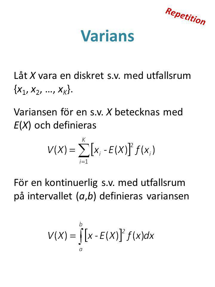 Repetition Varians.