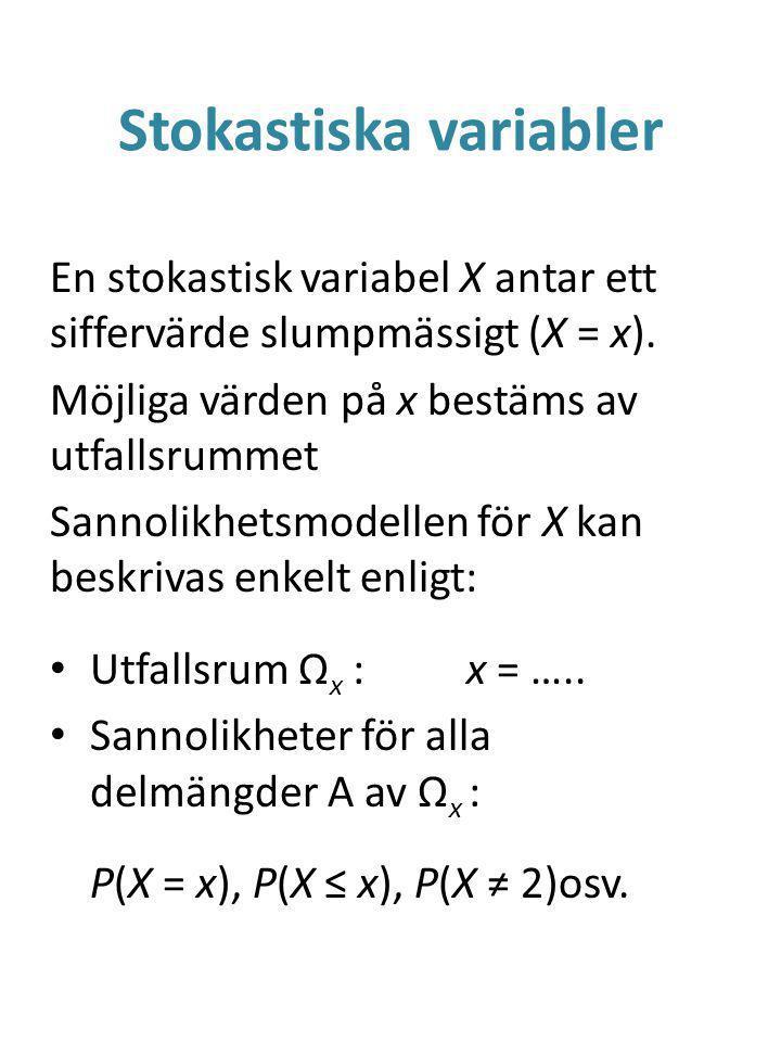 Stokastiska variabler