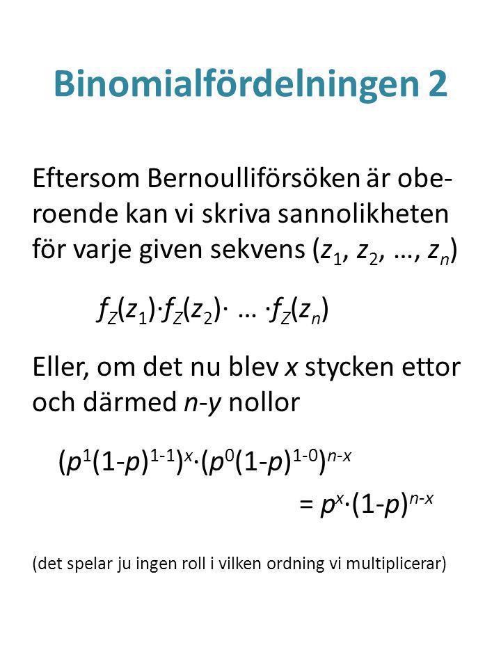 Binomialfördelningen 2