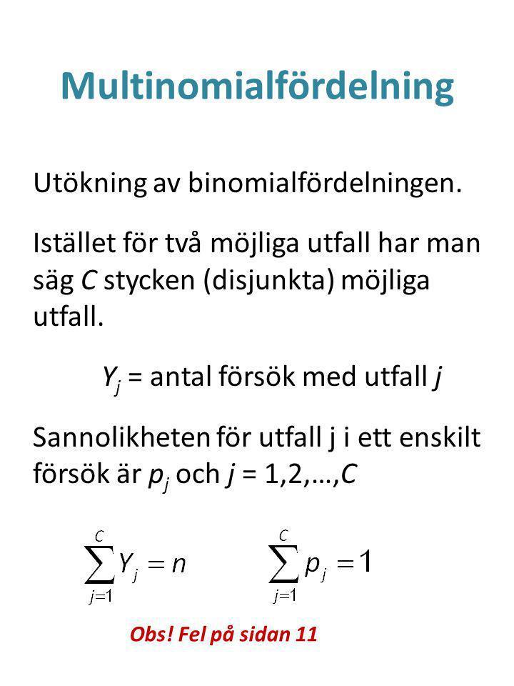 Multinomialfördelning