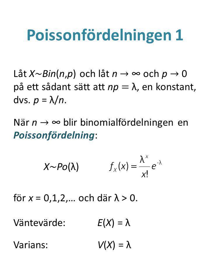 Poissonfördelningen 1