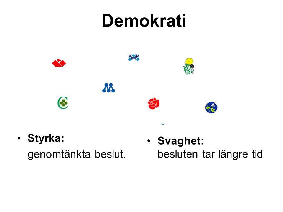 Demokrati Styrka: genomtänkta beslut.