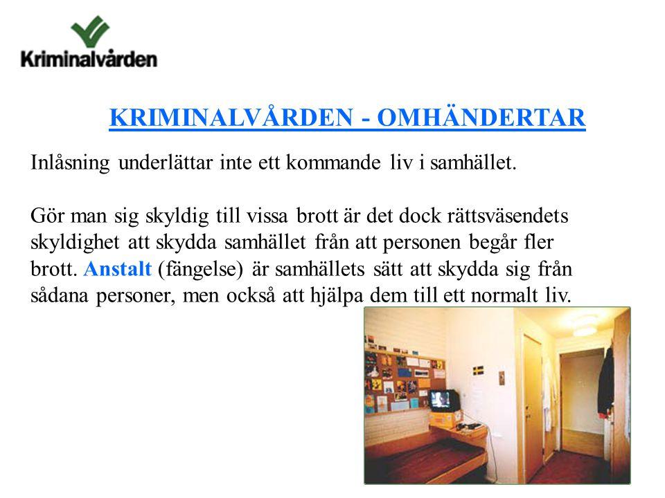 KRIMINALVÅRDEN - OMHÄNDERTAR