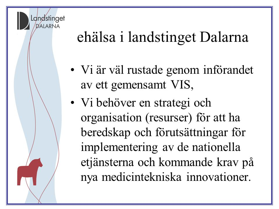ehälsa i landstinget Dalarna