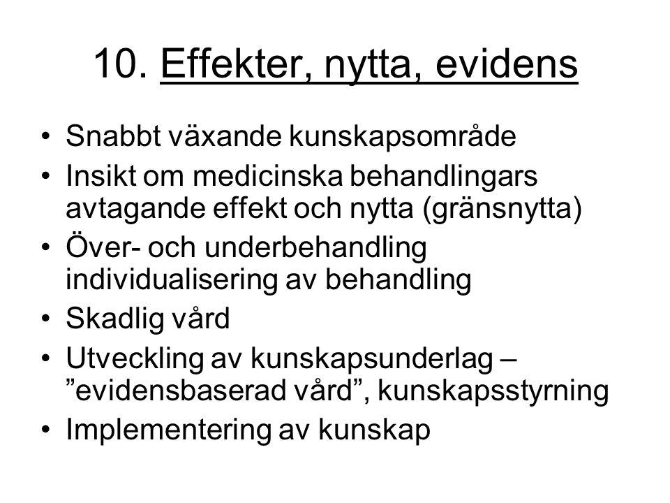 10. Effekter, nytta, evidens