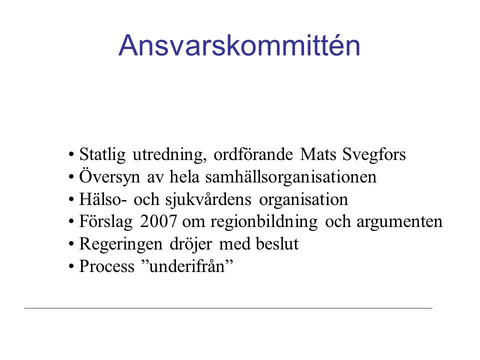 Ansvarskommittén Statlig utredning, ordförande Mats Svegfors