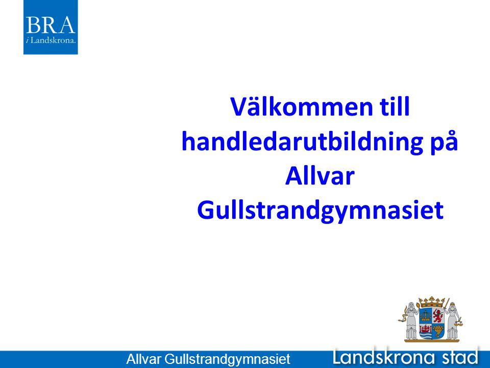 Välkommen till handledarutbildning på Allvar Gullstrandgymnasiet