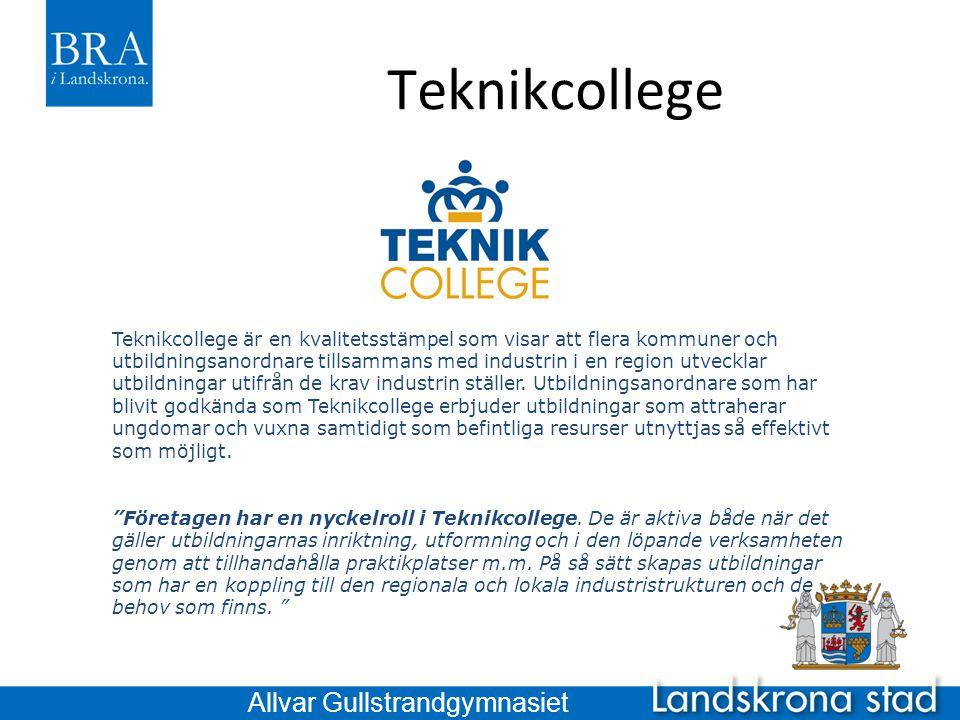 Teknikcollege Allvar Gullstrandgymnasiet