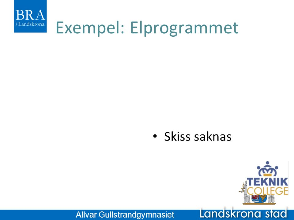 Exempel: Elprogrammet