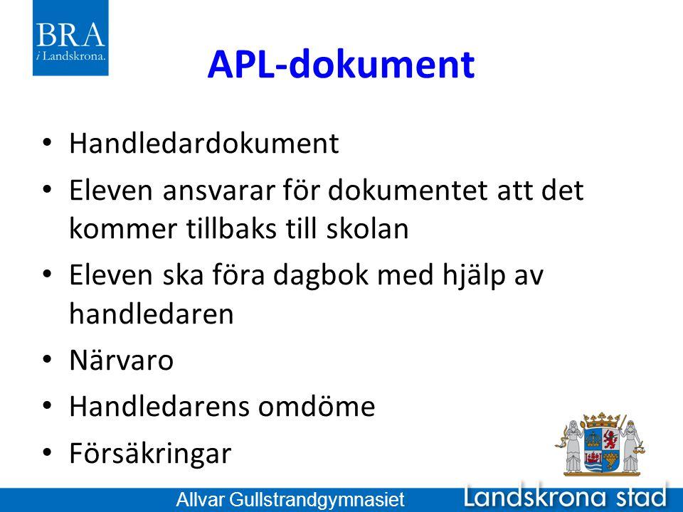APL-dokument Handledardokument
