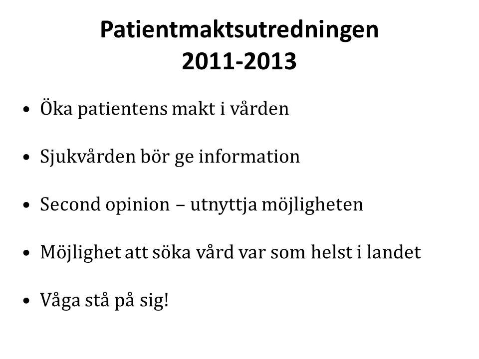 Patientmaktsutredningen 2011-2013
