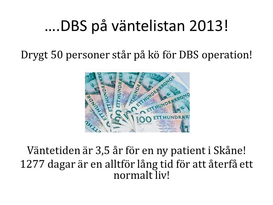 ….DBS på väntelistan 2013!